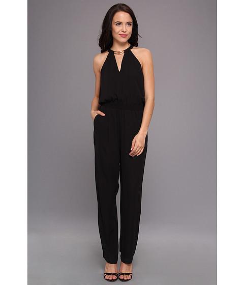 "Pantaloni BCBGMAXAZRIA - \""Zoelle\"" Halter Top Jumpsuit - Black"