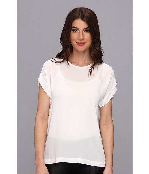 "Bluze BCBGMAXAZRIA - ""Fifi\"" Relaxed Top With Wide Sleeves - White"