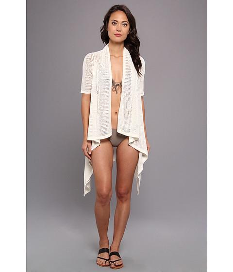 Costume de baie Echo Design - Open Stitch Short Sleeve Cardi - White
