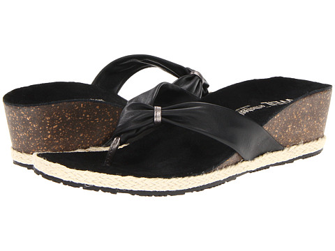 Sandale VIONIC with Orthaheel Technolo - Dr. Weil with OrthaheelÃ'® Technology Calm Toe Post Wedge - Black/Pewter