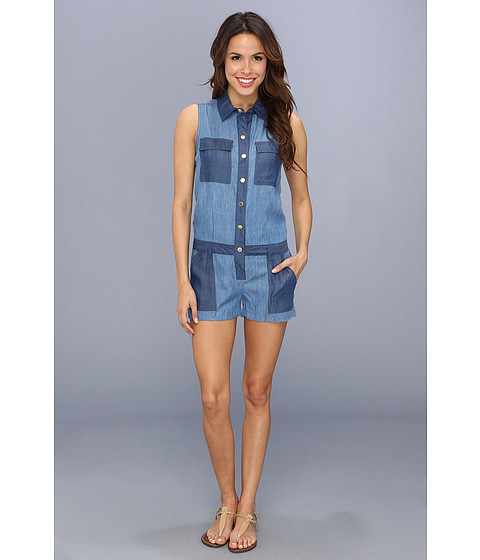 Pantaloni MICHAEL Michael Kors - Color Blocked Romper - Indigo Patchwork