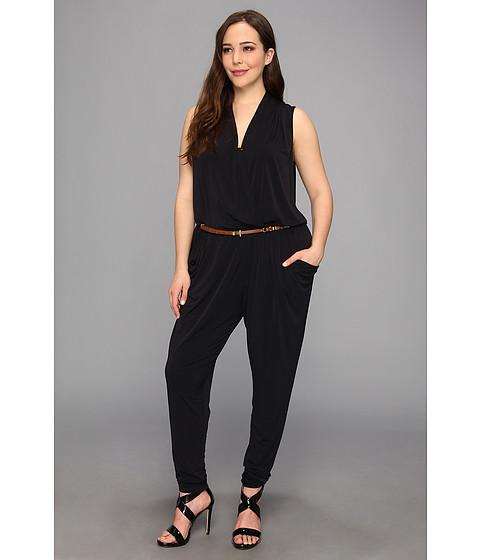 Pantaloni MICHAEL Michael Kors - Plus Size S/L Belted Jumpsuit - Navy