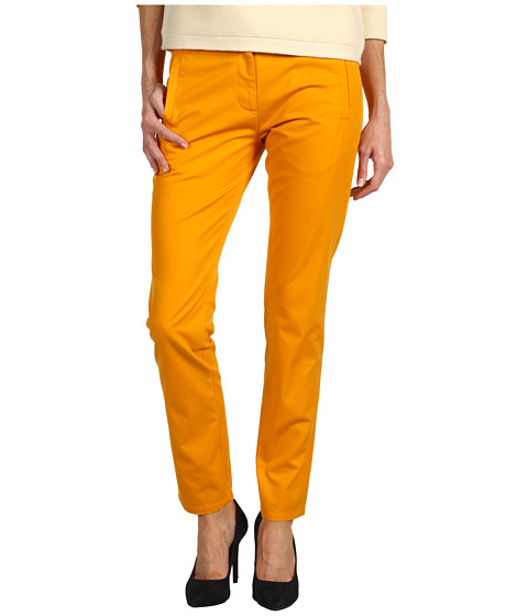 Pantaloni Tibi - Refined Chino Easy Slouch Pant - Tangerine Orange