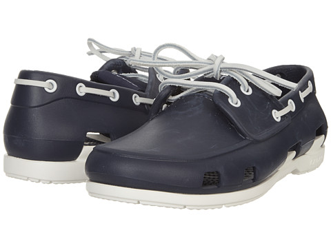 Pantofi Crocs - Beach Line Boat Shoe - Navy/White