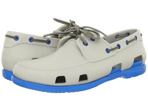 Pantofi Crocs - Beach Line Boat Shoe - Pearl White/Ocean