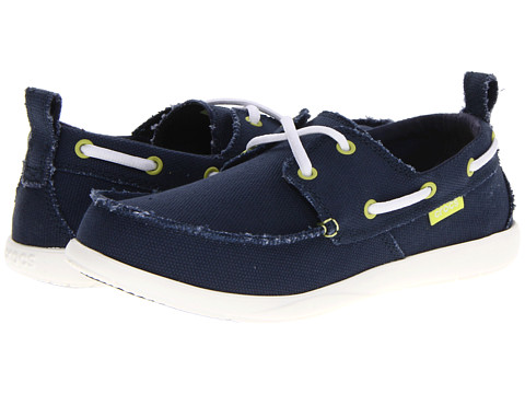 Pantofi Crocs - Walu Canvas Deck Shoe - Navy/White