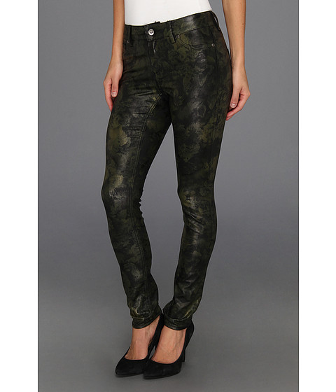 Blugi Vince Camuto - Tonal Floral Straight Leg Jean in Dark Leaf - Dark Leaf