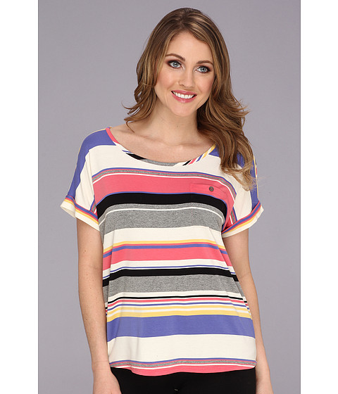 Bluze Vince Camuto - Happy Stripe Pocket Tee - Granita Pink