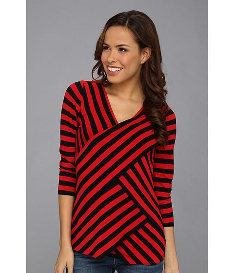 Bluze Vince Camuto - 3/4 Sleeve Stripe Bandage Top - Rouge