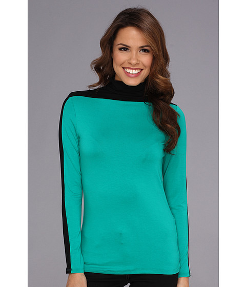 Bluze Vince Camuto - L/S Colorblock Turtle Neck - Emerald