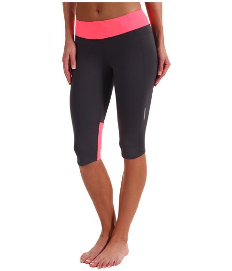 Pantaloni Brooks - Essential Capri - Anthracite/Brite Pink