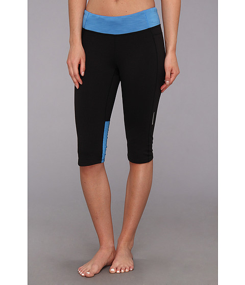 Pantaloni Brooks - Essential Capri - Black/Heather Neptune
