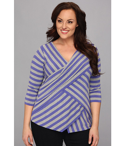 Bluze Vince Camuto - Plus Size 3/4 Sleeve Stripe Zig Zag - Deep Freesia