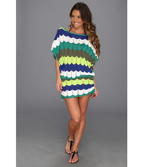Costume de baie Trina Turk - Zig Zag Crochet Tunic - Green