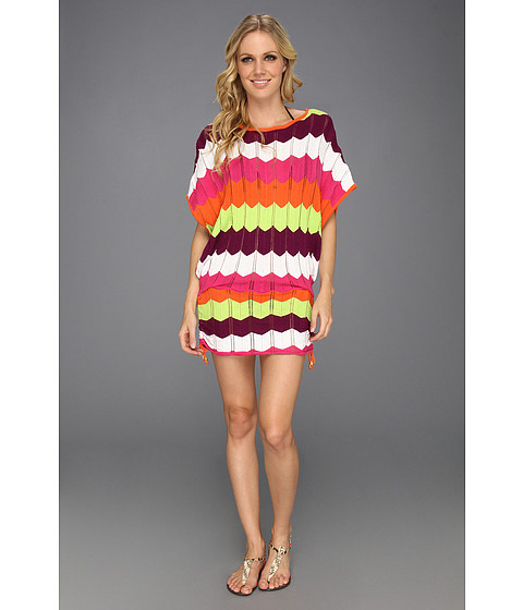 Costume de baie Trina Turk - Zig Zag Crochet Tunic - Papaya