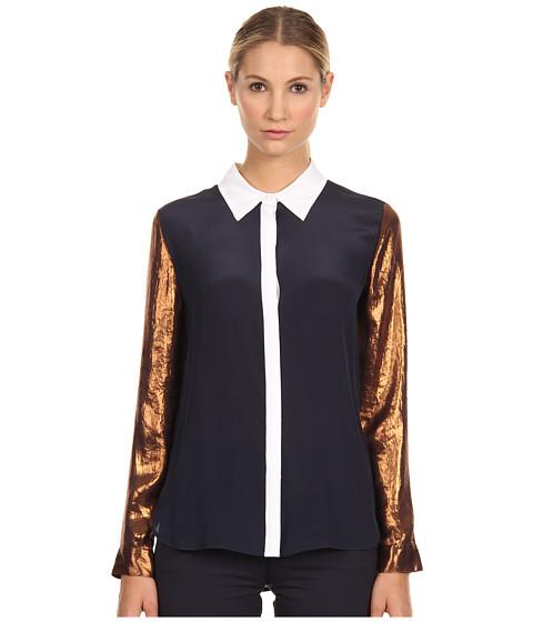 Bluze Armani Jeans - Color Block Satin Blouse - Blue