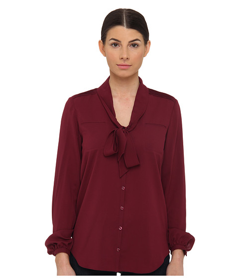 Bluze Armani Jeans - Silk Blend Blouse with Bow Detail - Fuchsia