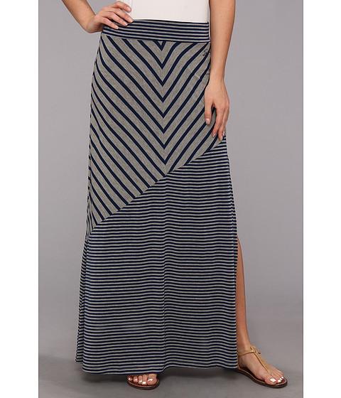 Fuste Seven7 Jeans - Chevron Skirt w/ Wide Bias Hem - Navy/Heather