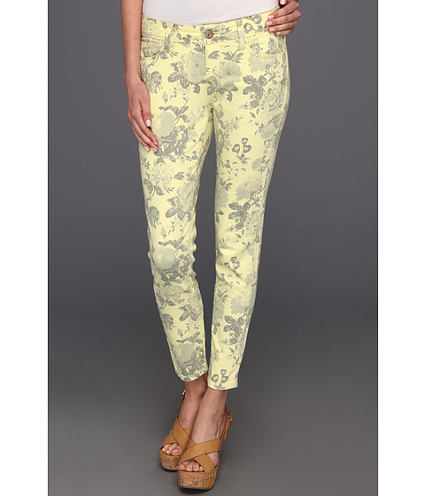 Blugi Mavi Jeans - Alexa Ankle Mid-Rise Super Skinny in Yellow Flower Print - Yellow Flower Print