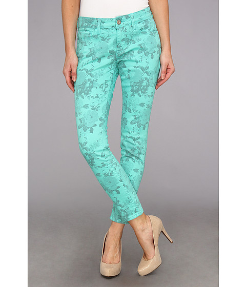 Blugi Mavi Jeans - Alexa Ankle Printed in Mint Flower - Mint Flower Printed