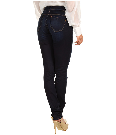 Blugi Mavi Jeans - Mavi Gold Alexa Mid-Rise Super Skinny in Dark Gold Sateen - Dark Gold Sateen