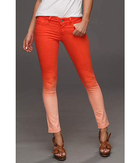 Blugi Mavi Jeans - Serena Ankle Low-Rise Super Skinny in Orange Fade - Orange Fade