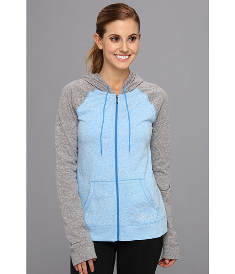 Bluze Under Armour - Charged CottonÃ'® Undeniable Full Zip Hoodie - Electric blue/Charcoal/Caspian