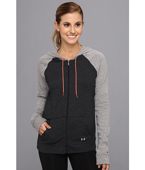 Bluze Under Armour - Charged CottonÃ'® Undeniable Full Zip Hoodie - Black/Charcoal/Brilliance