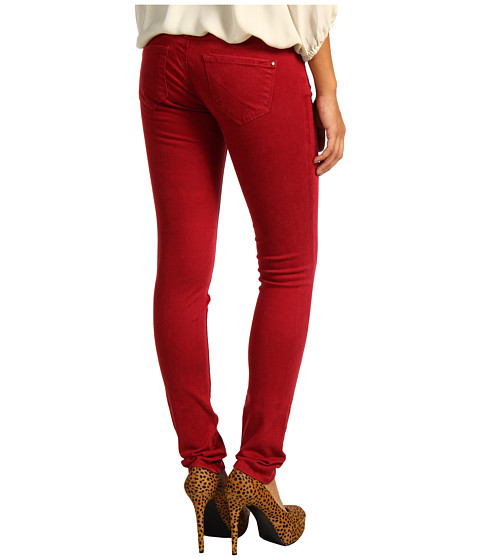 Blugi Mavi Jeans - Serena Low-Rise Super Skinny Sueded Denim in Sueded Red - Sueded Red