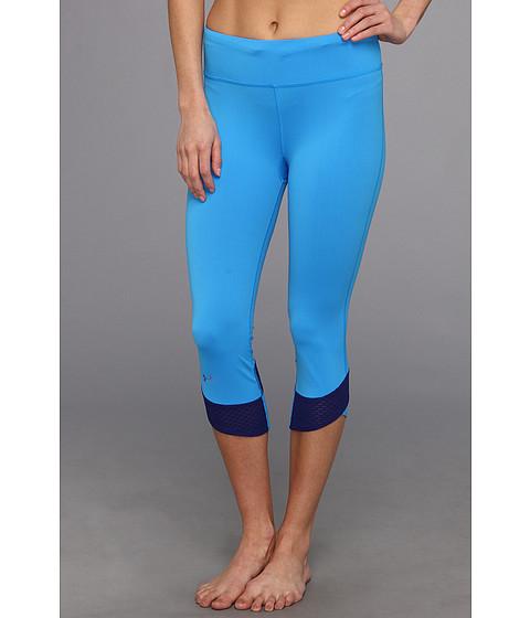 Pantaloni Under Armour - Fly-By Compression Capri - Electric Blue/Caspian/Reflective