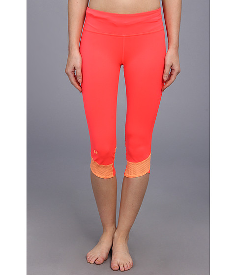 Pantaloni Under Armour - Fly-By Compression Capri - Neo Pulse/Afterglow/Reflective