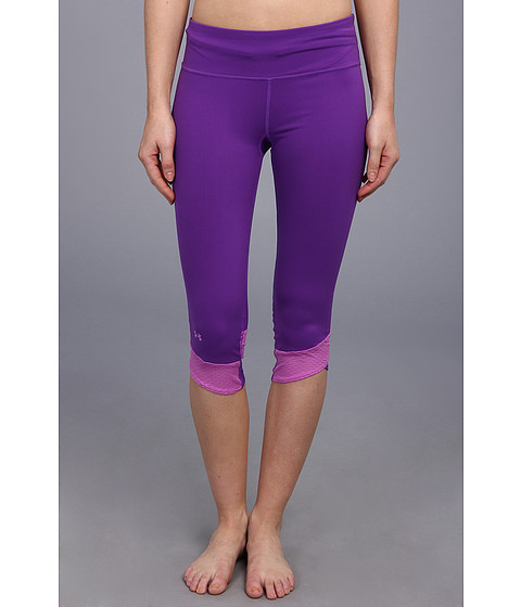 Pantaloni Under Armour - Fly-By Compression Capri - Pride/Exotic Bloom/Reflective