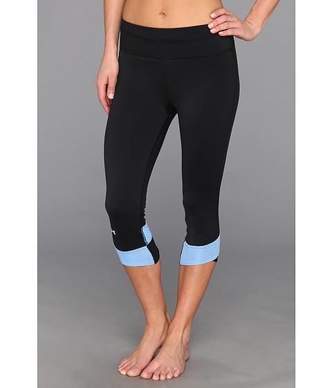 Pantaloni Under Armour - Fly-By Compression Capri - Black/Ceylon/Reflective