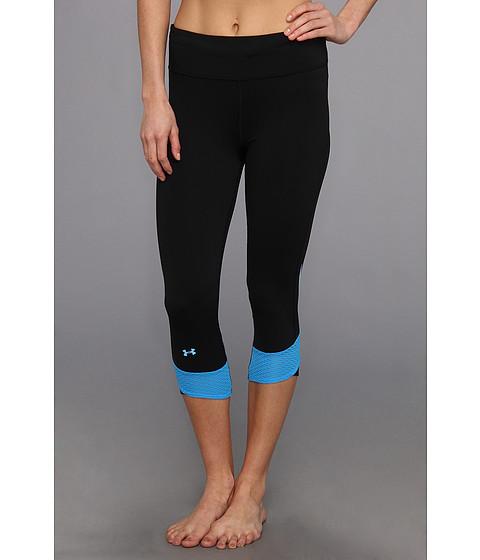 Pantaloni Under Armour - Fly-By Compression Capri - Black/Electric Blue/Reflective