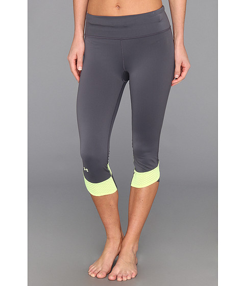 Pantaloni Under Armour - Fly-By Compression Capri - Lead/X-Ray/Reflective