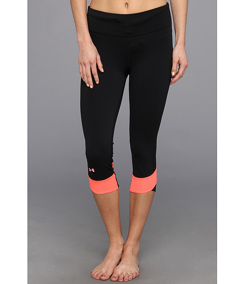 Pantaloni Under Armour - Fly-By Compression Capri - Black/Brilliance/Reflective