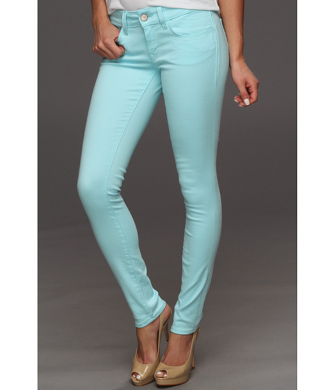 Blugi Mavi Jeans - Serena Low-Rise Super Skinny in Turquoise Neon - Turquoise Neon