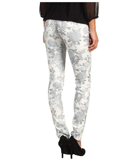 Blugi Mavi Jeans - Serena Low-Rise Super Skinny in White Floral - White Floral