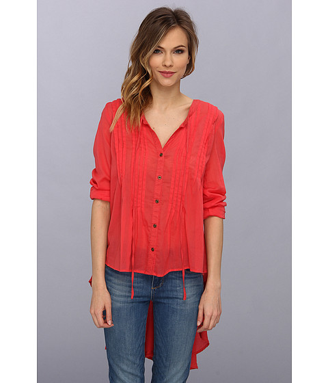 Bluze Free People - Sisters Of The Moon Top - Pink Cactus Flower