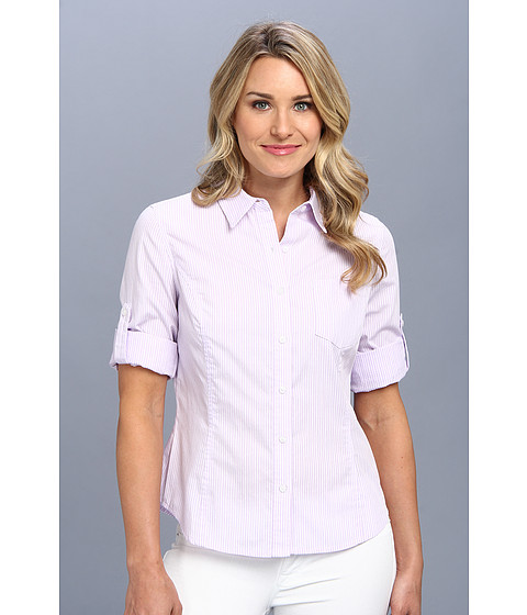 Camasi Jones New York - Fitted Roll - Up Elbow Sleeve Shirt - Dark Lilac