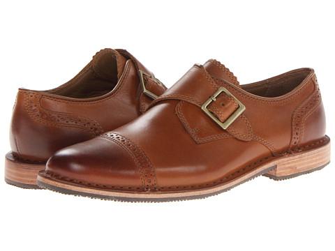 Pantofi Sebago - Brattle Monk Strap - Brattle Tan