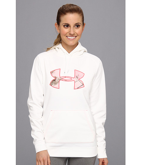 Bluze Under Armour - Tackle Twill Hoodie - White/Realtree AP Pink