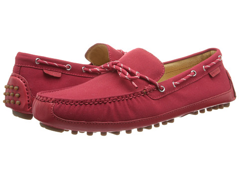 Pantofi Cole Haan - Grant Canoe Camp Moc - Tango Red Canvas