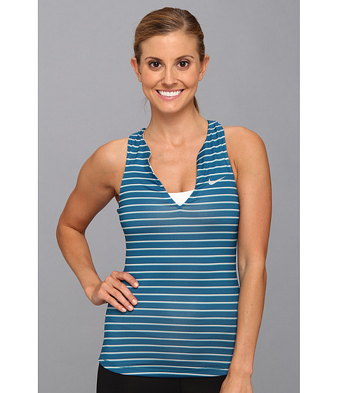 Bluze Nike - Stripe Pure Tank Top - Diffused Jade/Matte Silver