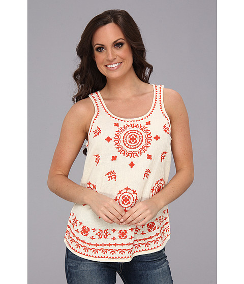 Bluze Lucky Brand - Pacifica Embroidered Tank - Natural Multi