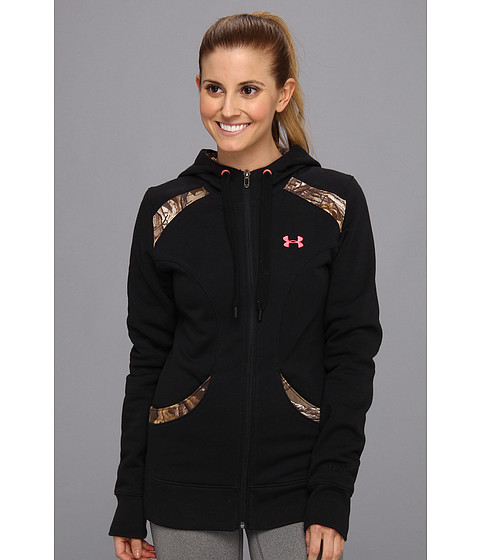 Bluze Under Armour - UA MTN Charged CottonÃ'® Storm Full Zip Hoodie - Black/Realtree AP-Xtra/Perfection