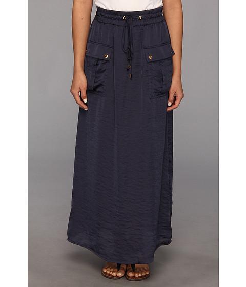 Fuste MICHAEL Michael Kors - Petite Maxi Safari Pocket Skirt - Washed Indigo