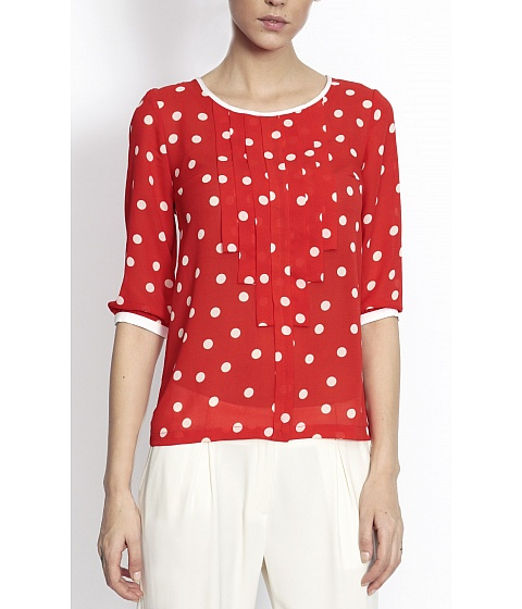 Bluze Nissa - Top Top6163 - Imprimat/Rosu