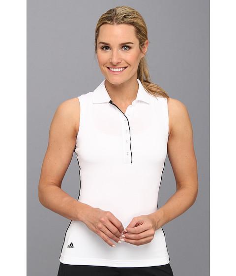 Bluze adidas - 3-Stripes Piped Sleeveless Polo \14 - White/Black