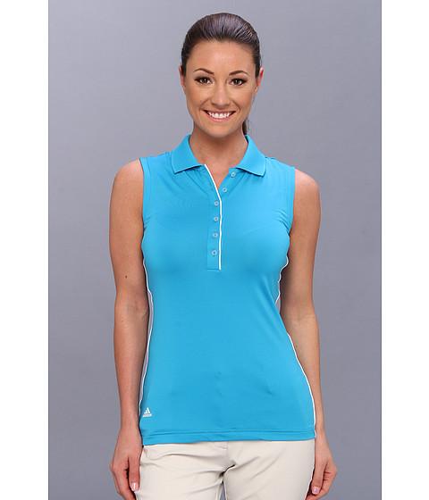Bluze adidas - 3-Stripes Piped Sleeveless Polo \14 - Solar Blue/White